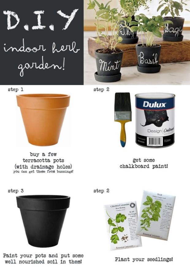 indoor-herb-garden-ideas-chalk-paint-indoor-herb-garden