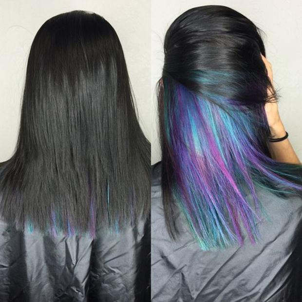 Hidden Rainbow Hair Color Ideas - Our Motivations - Art ...