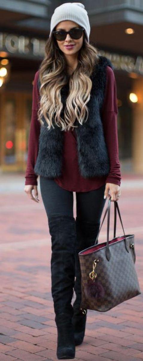 Stylish Ways to Wear a Fur Vest 2
