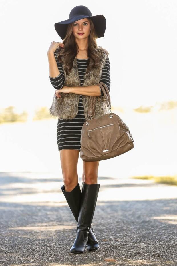Stylish Ways to Wear a Fur Vest 3