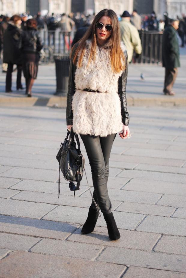 Stylish Ways to Wear a Fur Vest