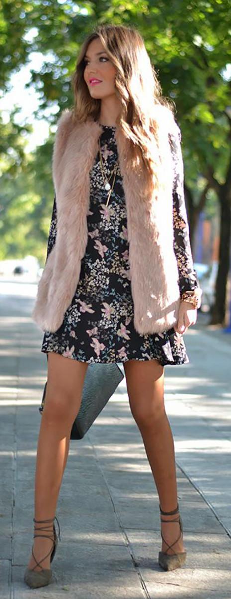 Stylish Ways to Wear a Fur Vests 1