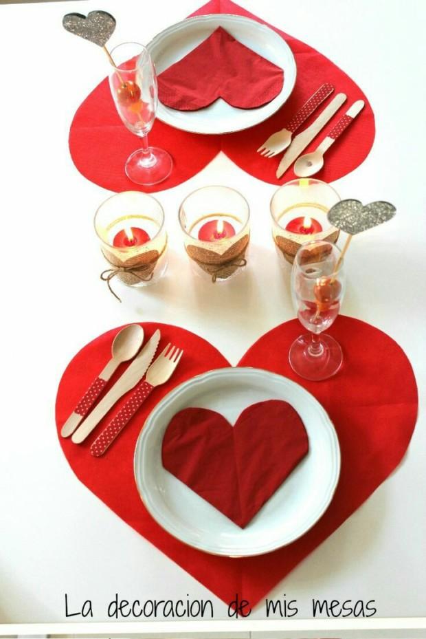 Romantic DIY Valentine's Day Table Decorations 1