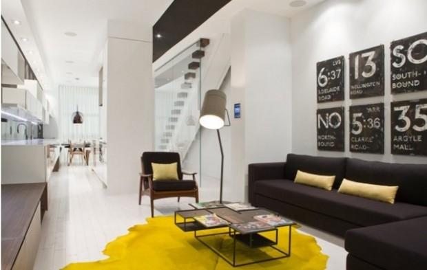 black and yellow interior design ideas