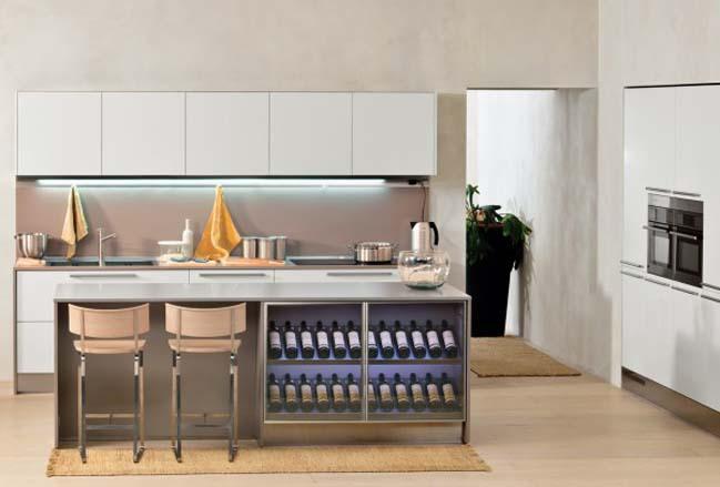 modern kitchen wine rack